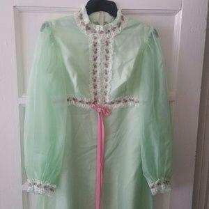 Vtg. Formal Maxi Dress
